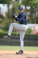March 20th 2008:  Adam Miller of the Cleveland Indians minor league system during Spring Training at Chain of Lakes Training Complex in Winter Haven, FL.  Photo by:  Mike Janes/Four Seam Images