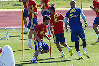 Spanish Dvaid Silva during the second training of the concentration of Spanish football team at Ciudad del Futbol de Las Rozas before the qualifying for the Russia world cup in 2017 August 30, 2016. (ALTERPHOTOS/Rodrigo Jimenez) /NORTEPHOTO