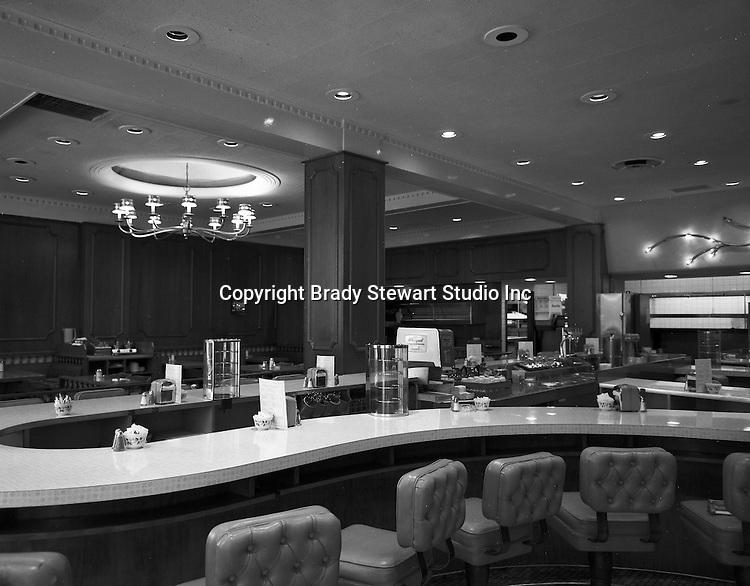 Pittsburgh PA: Interior of Palmer's Restaurant on Smithfield Street.