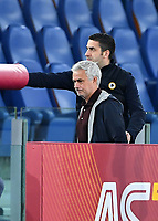 Calcio, Serie A: AS Roma vs SSC Napoli, Olympic stadium, October 24, 2021.<br /> Roma's coach José Mourinho leaves the pitch after receiving a red card during the Italian Serie A football match between Roma and Napoli at Rome's Olympic stadium, on , October 24, 2021. <br /> UPDATE IMAGES PRESS/Isabella Bonotto