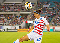 Jacksonville, FL - Thursday, April 05, 2018: Ashley Hatch during a friendly match between USA and Mexico at EverBank Stadium.  USA defeated Mexico 4-1.