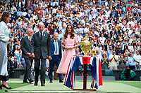 Tom Cruise with Hayley Atwell and Pom Klementieff<br /> London 11/07/2021 Wimbledon <br /> Tennis Grande Slam 2021<br /> Photo Antonie Couvercelle / Panoramic / Insidefoto <br /> ITALY ONLY