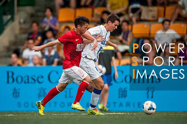 Guangzhou Evergrande vs Hong Kong Football Club during the Day 2 of the HKFC Citibank Soccer Sevens 2014 on May 24, 2014 at the Hong Kong Football Club in Hong Kong, China. Photo by Xaume Olleros / Power Sport Images