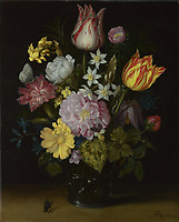 Full title: Flowers in a Glass Vase<br /> Artist: Ambrosius Bosschaert the Elder<br /> Date made: 1614<br /> Source: http://www.nationalgalleryimages.co.uk/<br /> Contact: picture.library@nationalgallery.co.uk<br /> <br /> Copyright © The National Gallery, London
