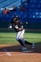 Missoula Osprey Jose Reyes (20) prepares to bunt during a Pioneer League game against the Great Falls Voyagers at Centene Stadium at Legion Park on August 19, 2019 in Great Falls, Montana. Missoula defeated Great Falls 4-1 in the first game of a doubleheader. Games were moved from Missoula after Ogren Park at Allegiance Field, the Osprey's home field, was ruled unplayable. (Zachary Lucy/Four Seam Images)