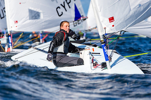 Talented teen - Eve McMahon of Howth Yacht Club is in gold fleet in Gdansk