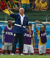 Brazil head coach Luiz Felipe Scolari points on the touchline