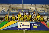 BARRANCABERMEJA -COLOMBIA, 19-09-2020:Alianza Petrolera  y el Independiente Medellín  en partido por la fecha 9 de la Liga BetPlay DIMAYOR I 2020 jugado en el estadio Estadio Daniel Villa Zapata de la ciudad de Barrancabermeja. / Alianza Petrolera and Independiente Medellin  in match for the date 9 BetPlay DIMAYOR League I 2020 played atDaniel Villa Zapata stadium in Barrancabermeja city. Photo: VizzorImage/ Jose David Martinez Mulford / Contribuidor