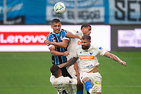 13th September 2020; Arena do Gremio Stadium, Porto Alegre, Brazil; Brazilian Serie A, Gremio versus Fortaleza; Diego Souza of Gremio manages to win the header under much pressure