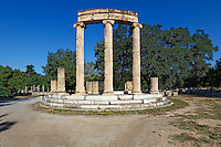 Philippeion monument (4th cent. B.C.) in Olympia, Greece