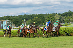 August 16, 2020: ANTIONETTE 34, ridden by John Velasquez, wins the Saratoga Oaks Invitational S at Saratoga Race Course in Saratoga Springs, New York. Rob Simmons/Eclipse Sportswire/CSM