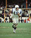 San Diego Chargers Lance Alworth (19) during a game from his career with the San Diego Chargers.  Lance Alworth played for 11 years  with 2 different teams, was a 7-time Pro Bowler In 1978, he became the first San Diego Charger and the first player who had played in the AFL to be inducted into the Pro Football Hall of Fame.<br /> (SportPics)