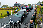 The funeral of Mike O'Neill leaving the railway tavern in Camp on Monday.