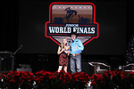 Sydnie Romero during the Break Away and Tie Down Roping Back Number presentation at the Junior World Finals. Photo by Andy Watson. Written permission must be obtained to use this photo in any manner.