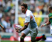 Jean Baptiste Gobelet of France in action during the iRB Marriott London Sevens at Twickenham on Saturday 11th May 2013 (Photo by Rob Munro)