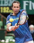 May 24, 2016:   Radek Stepanek (CZE) loses to Andy Murray (GBR) 3-6, 6-0, 6-3, 7-5, at the Roland Garros being played at Stade Roland Garros in Paris, .  ©Leslie Billman/Tennisclix/CSM
