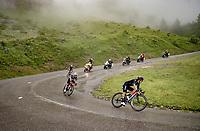 Richard Carapaz (ECU/INEOS Grenadiers) descending the Col de la Colombière (1618 m)<br /> <br /> Stage 8 from Oyonnax to Le Grand-Bornand (151km)<br /> 108th Tour de France 2021 (2.UWT)<br /> <br /> ©kramon