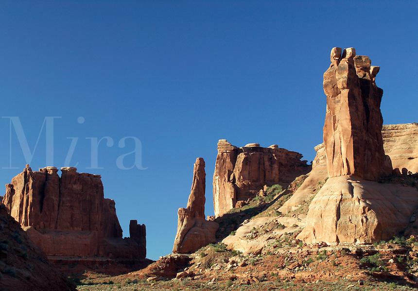 Rocky spires near Wall Street, Arches National Park, Utah