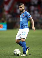 Football: Uefa Nations League match Italy vs Poland, Renato Dall'Ara stadium, Bologna, Italy, September 7, 2018. <br /> Italy's Lorenzo Insigne in action during the Uefa Nations League match between Italy and Poland at the Renato Dall'Ara stadium, Bologna, Italy, September 7, 2018. <br /> <br /> UPDATE IMAGES PRESS/Isabella Bonotto