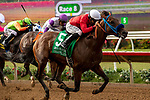 DEL MAR, CA  AUGUST 10:  #5 Collusion Illusion, ridden by Joseph Talamo, in the stretch of the Best Pal Stakes (Grade ll) on August 10, 2019 at Del Mar Thoroughbred Club in Del Mar, CA. (Photo by Casey Phillips/Eclipse Sportswire/CSM)
