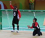 Bruno Hache, Rio 2016 - Goalball.<br /> Team Canada plays Brazil in the men's goalball // Équipe Canada affronte le Brésil au goalball masculin. 09/09/2016.