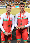 Wales Mens 1000m B2 Tandam Matthew Ellis and ride partner Ieuan Williams with there Bronze medal<br /> <br /> Photographer Ian Cook/Sportingwales<br /> <br /> 20th Commonwealth Games - Track Cycling -  Day 2 - Friday 25th July 2014 - Glasgow - UK