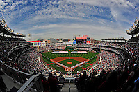 13 April 2009: The Washington Nationals and their fans observe a moment of silence honoring Nick Adenhart during Opening Ceremonies prior to a game against the Philadelphia Phillies at the Nats' Home Opener at Nationals Park in Washington, DC. The Nats fell short in their 9th inning rally, losing 9-8, and marking their 7th consecutive loss of the 2009 season. Mandatory Credit: Ed Wolfstein Photo