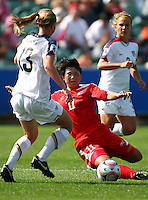 Korea DPR's Yun Hyon Hi. USA v Korea Republic. FIFA U-17 Women's World Cup Final. North Harbour Stadium, Auckland, Sunday 16 October 2008. Photo: Simon Watts/PHOTOSPORT
