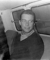 Pix: Copyright Anglia Press Agency/Archived via SWpix.com. The Bamber Killings. August 1985. Murders of Neville and June Bamber, daughter Sheila Caffell and her twin boys. Jeremy Bamber convicted of killings serving life...copyright photograph>>Anglia Press Agency>>07811 267 706>>..Jeremy Bamber in prison van. no date..ref 0002 neg 12...