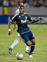 CARSON, CA - June 23, 2012: Vancouver Whitecaps midfielder Gershon Koffie (28) during the LA Galaxy vs Vancouver Whitecaps FC match at the Home Depot Center in Carson, California. Final score LA Galaxy 3, Vancouver Whitecaps FC 0.