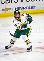 2 February 2020: University of Vermont Catamount Defender Anna Erickson, a Junior from Stillwater, MN, in second period action against the Holy Cross Crusaders at Gutterson Fieldhouse in Burlington, Vermont. The Lady Cats rallied in the 3rd period to tie the Crusaders 2-2 in NCAA Women's Hockey East play. Mandatory Credit: Ed Wolfstein Photo *** RAW (NEF) Image File Available ***