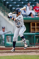 West Michigan Whitecaps shortstop Leonardo Laffita (29) at bat against the Fort Wayne TinCaps on May 23, 2016 at Parkview Field in Fort Wayne, Indiana. The TinCaps defeated the Whitecaps 3-0. (Andrew Woolley/Four Seam Images)