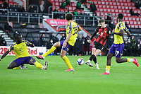 David Brooks of AFC Bournemouth has a great chance to score his second goal during AFC Bournemouth vs Huddersfield Town, Sky Bet EFL Championship Football at the Vitality Stadium on 12th December 2020