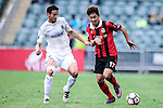 FC Seoul Forward Yun Il Lok (r) is chased by Auckland City Midfielder Mario Bilen (l) during the 2017 Lunar New Year Cup match between Auckland City FC (NZL) and FC Seoul ((KOR) on January 28, 2017 in Hong Kong, Hong Kong. Photo by Marcio Rodrigo Machado/Power Sport Images