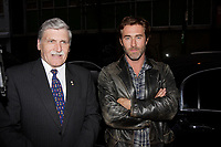 Montreal (QC) CANADA, September 26, 2007-<br /> <br /> Main actor Roy Dupuis (R) and General Romeo Dallaire (L)<br /> on the red carpet Premiere of the movie ;<br /> I shook the Devil's Hand - J'ai serre la main du Diable<br /> based on the book written by Dallaire who was the UN commander during the 1994 Rwanda genocide.<br /> <br /> <br /> photo : Pierre Roussel (c)  Images Distribution