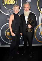 LOS ANGELES, USA. September 23, 2019: Chris Newman & Guest at the HBO post-Emmy Party at the Pacific Design Centre.<br /> Picture: Paul Smith/Featureflash