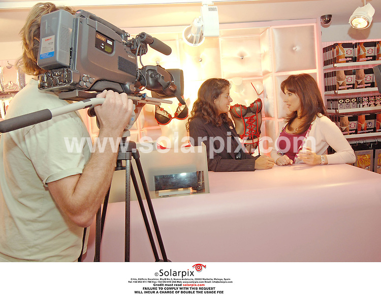PICTURES FROM SOLARPIX.COM..Jacqueline Gold, owner of Ann summers at her Valencian store during the filming of the the brand new LivingTV show Break with the Boss...DATE: 13/10/2006-JOB REF: 2920-ITS