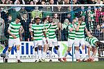 St Johnstone v Celtic…04.11.17…  McDiarmid Park…  SPFL<br />Moussa Dembele celebartes his first goal<br />Picture by Graeme Hart. <br />Copyright Perthshire Picture Agency<br />Tel: 01738 623350  Mobile: 07990 594431