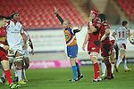 Referee  Peter Fitzgibbon.Celtic League.Scarlets v Ulster.Parc y Scarlets.02.12.12..©Steve Pope