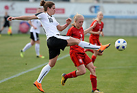 20180302 - LARNACA , CYPRUS : Austrian Nina Burger (10) pictured in a duel with Czech Jitka Chlastakova (right) during a women's soccer game between Austria and Czech Republic , on friday 2 March 2018 at the AEK Arena in Larnaca , Cyprus . This is the second game in group B for Austria and Czech Republic during the Cyprus Womens Cup , a prestigious women soccer tournament as a preparation on the World Cup 2019 qualification duels. PHOTO SPORTPIX.BE | DAVID CATRY