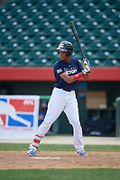Ayendi Ortiz (6) during the Dominican Prospect League Elite Underclass International Series, powered by Baseball Factory, on August 2, 2017 at Silver Cross Field in Joliet, Illinois.  (Mike Janes/Four Seam Images)