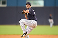 FCL Yankees pitcher Jarod Lessar (61) during a game against the FCL Tigers East on July 27, 2021 at the Yankees Minor League Complex in Tampa, Florida. (Mike Janes/Four Seam Images)