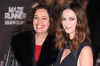 """Kaya Scodelario and mum, Katia<br /> arriving for the """"Maze Runner: The Death Cure"""" Fan Screening at the Vue West End, Leicester Square, London<br /> <br /> <br /> ©Ash Knotek  D3370  22/01/2018"""