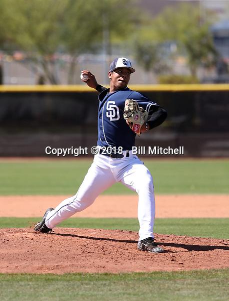 Luis Patino - San Diego Padres 2018 spring training (Bill Mitchell)