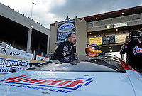 Jul, 22, 2011; Morrison, CO, USA: NHRA pro stock driver Jason Line during qualifying for the Mile High Nationals at Bandimere Speedway. Mandatory Credit: Mark J. Rebilas-