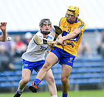 Mark Rodgers of Clare  scores a goal despite Jack O Floinn of Waterford  during their Munster  championship round robin game at Cusack Park Photograph by John Kelly.