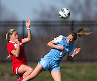 Kelly McFarlane, Olivia Wagner. The Washington Spirit defeated the North Carolina Tar Heels in a preseason exhibition, 2-0, at the Maryland SoccerPlex in Boyds, MD.