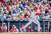7 March 2019: Washington Nationals outfielder Juan Soto at bat during a Spring Training Game against the New York Mets at the Ballpark of the Palm Beaches in West Palm Beach, Florida. The Nationals defeated the visiting Mets 6-4 in Grapefruit League, pre-season play. Mandatory Credit: Ed Wolfstein Photo *** RAW (NEF) Image File Available ***