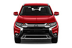 Car photography straight front view of a 2020 Mitsubishi Outlander SEL 5 Door SUV Front View