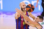 League ACB-ENDESA 2020/2021.Game 15.<br /> FC Barcelona vs Club Joventut Badalona: 88-74.<br /> Nick Calathes vs Albert Ventura.